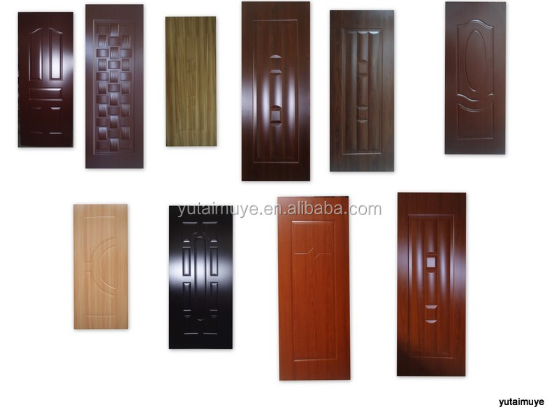 melamine moulded hdf door skin with more then 10 colors
