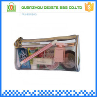Durable transparent PVC clear cosmetic bags wholesale