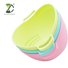 Good Quality Multi Function Kitchen Good Helper Plastic Fruit Vegetable Washing Bowl Strainer Sieve Rice Strainer