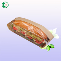 Best price hot sale brown kraft bread paper bag with clear window