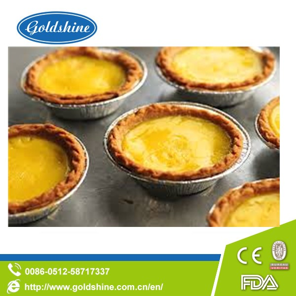 Factory price round disposable aluminum foil egg tart container