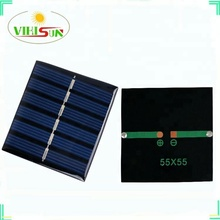 Professional Produce Epoxy/Resin Solar Cell 0.6W 3V 55x55mm PCB solar panel for kinds of small solar power bank
