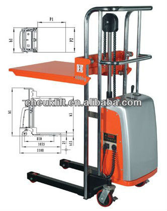 400kg Power Platform Stacker EFP
