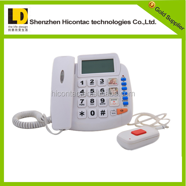 one button emergency telephone for home use