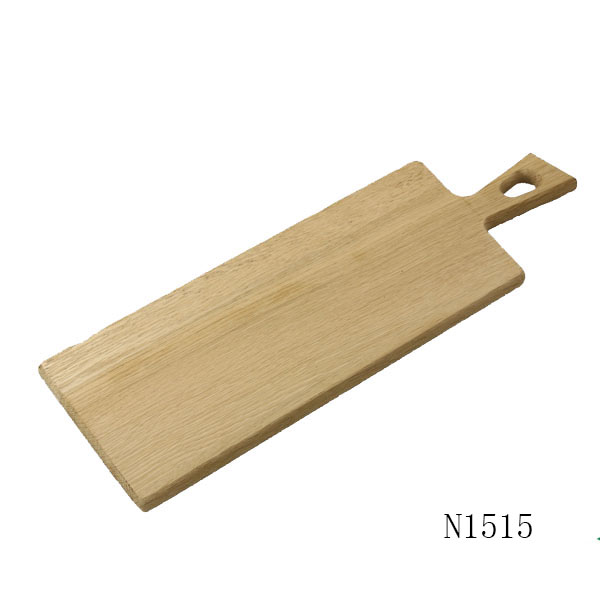 Solid OAK Wooden Bread Cheese Cutting Chopping Board/Wood Serving Board with handle
