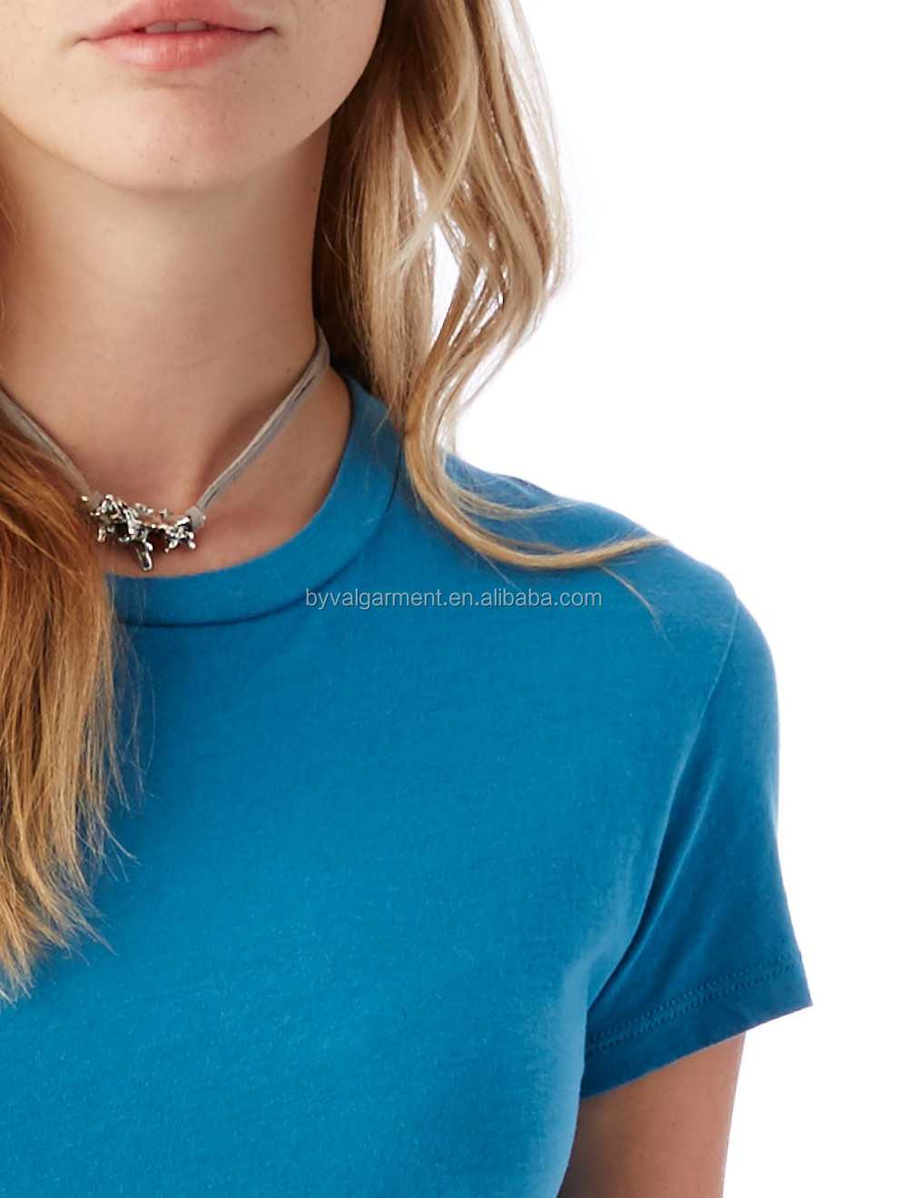 100% organic cotton Bulk plain t-shirts for women (10).jpg