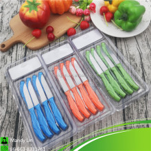 Bulk form China Kitchen Knife Sets Fruit and Salad Knife with Colorful Handle