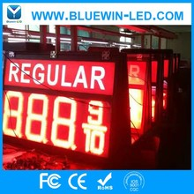 Low price Good quality led time temperature sign/ led gas station display/ large outdoor digital