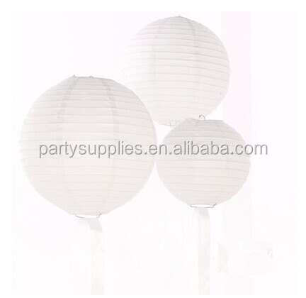Hanging Chinese Custom Printed Paper Lantern for Party/White Round Paper Lantern