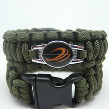 Factory Personalized Customized paracord rope bracelet with logo