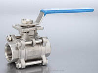 Three piece High platform female screw thread electric ball valve