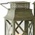 antique metal candle lantern