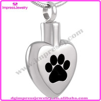 IJD8005 Stainless Steel Pet Journey of Life Cremation Pendant for Ash