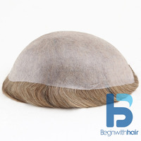 HOT SALE THIN SKIN HUMAN HAIR WIG/PIECE FOR MEN