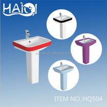 2016 new design wc ceramic wash basin, pedestal basin with bathroom for factory
