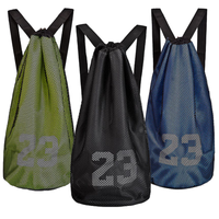 Wholesale cheap promotion sport drawstring backpack shopping mesh drawstring bag