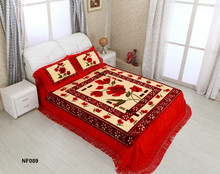 Jiangsu Wuxi factory Bedroom 1ply 160*220 3pcs blanket cover