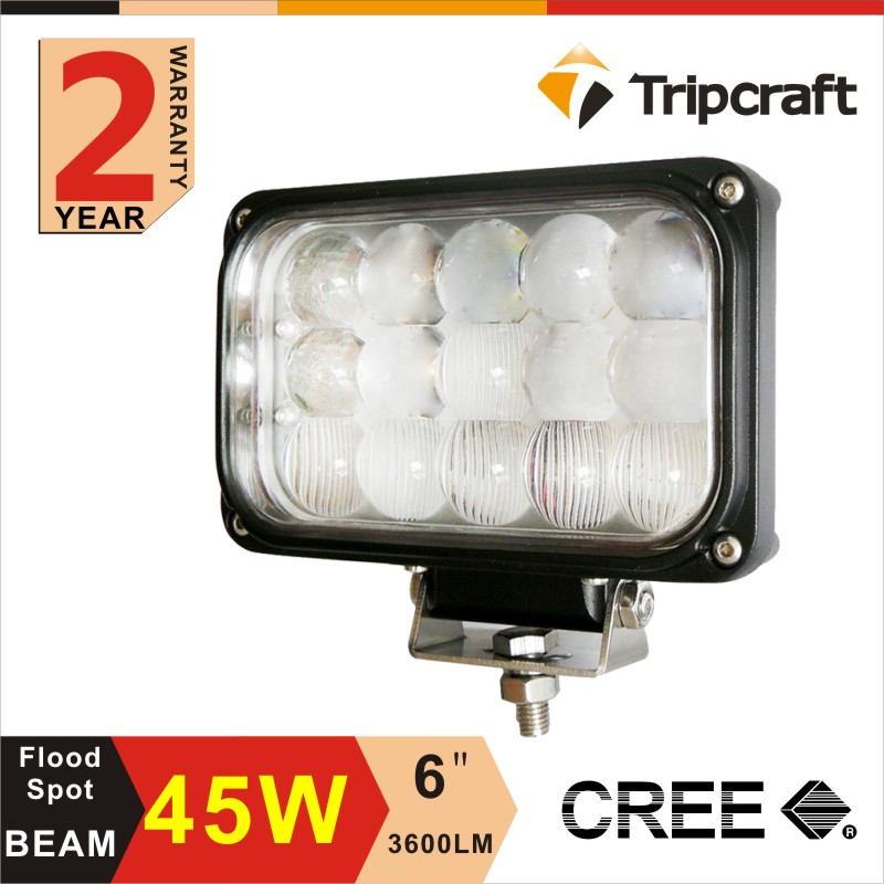 4X4 accessories 45w 6.5 inch square Led Driving Work Light Offroad replace HID SUV Jee p Truck 45w Offroad