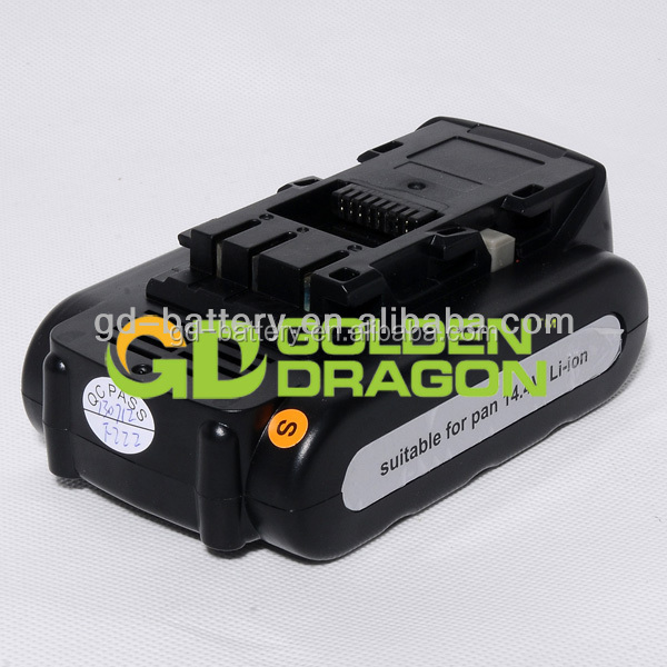Replacement power tool battery for Panasonic 14.4V Li-ion battery, For Panasonic EY9L40 battery