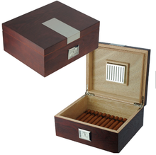 25 Counts Storage Antique Vintage Style Wooden Cigar Humidor Box