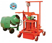 hot sale in Bangladesh QM40A mobile egg laying block making machine