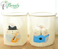 Factory price cartoon laundry storage collapsible basket