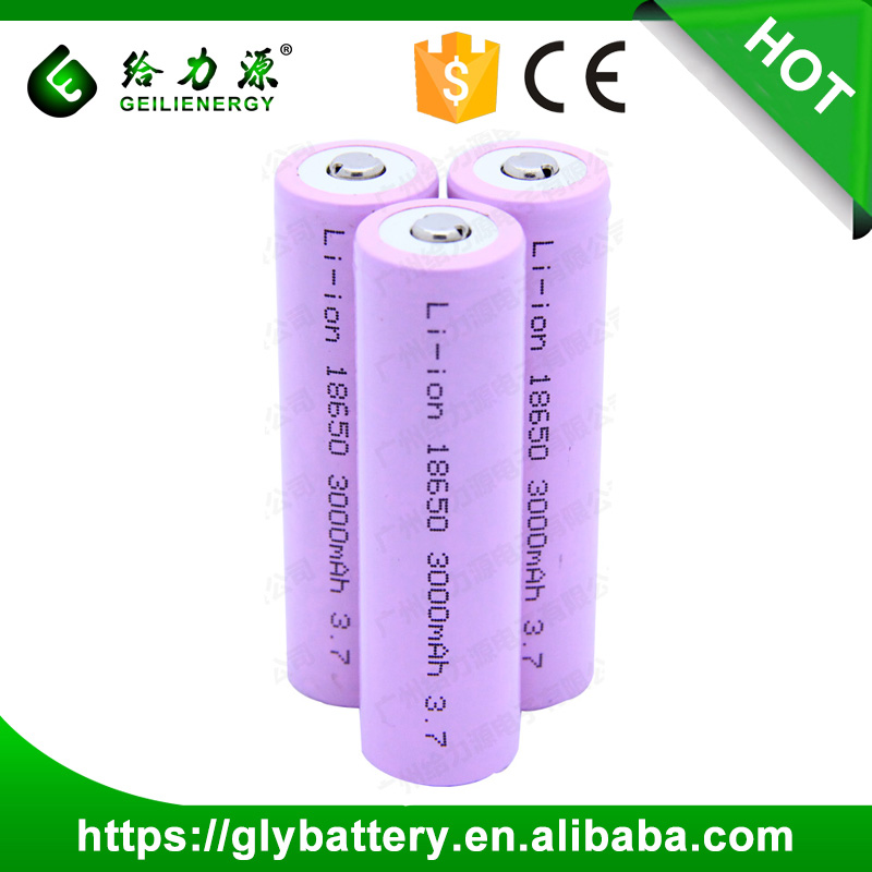 Geilienergy Rechargeable 3.7V Li-ion 18650 3000mAh Battery