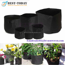 2017 Chinese Factoy Supplier Flower Pot Bag Fabric Felt Planter Bags For Garden