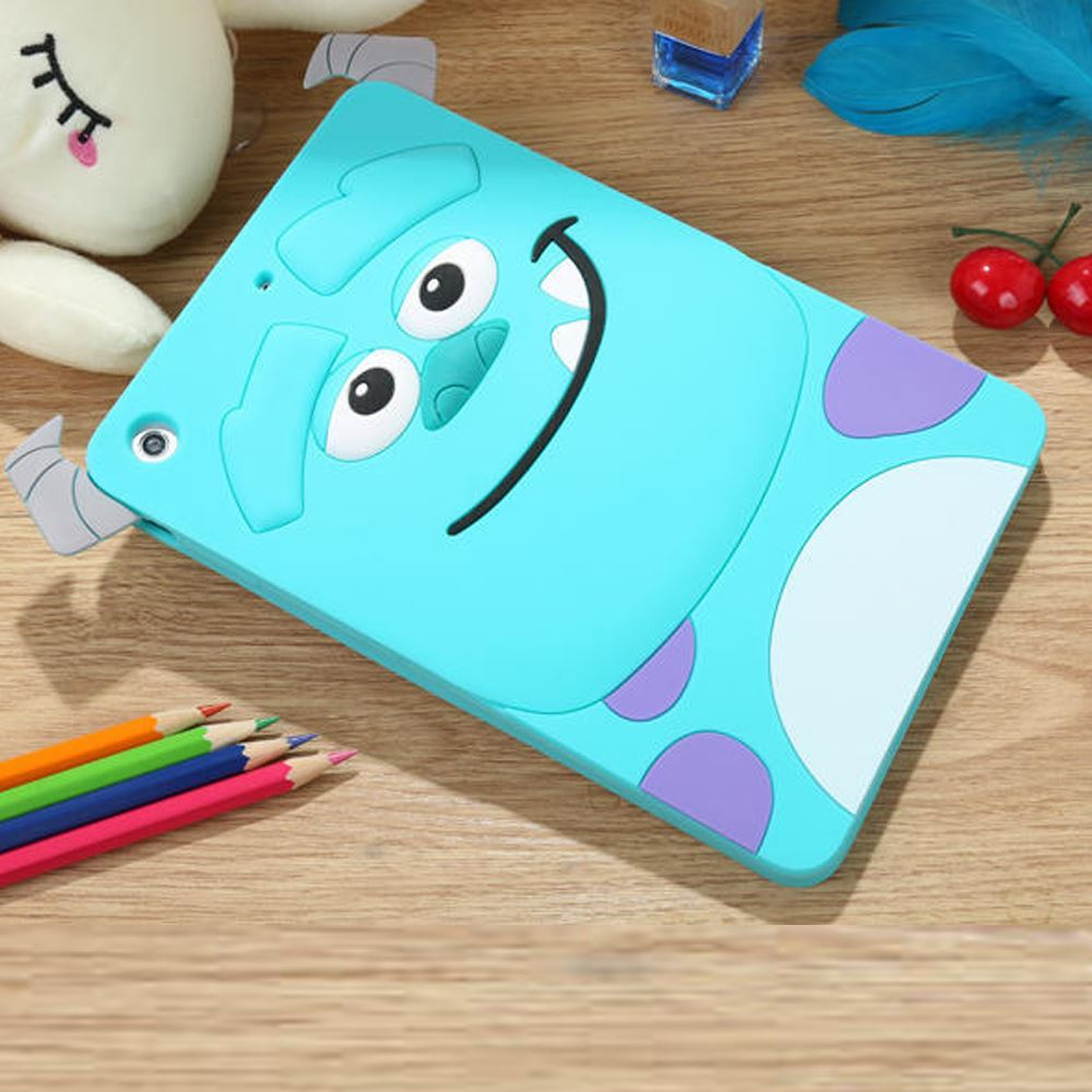 3D Cartoon Monsters University Tigger Sulley Cheshire Cat Soft Silicon Funda Case Cover For iPad 2 3 4 5 6 Air 1 2 Mini 4 3 2 1