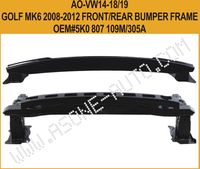 VW Golf MK6 2008-2012 Rear Bumper Reinforcement,Metal,OEM 5K0807305A