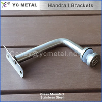 Glass Mounted to Round Pipe Stainless Steel Balustrade Fittings
