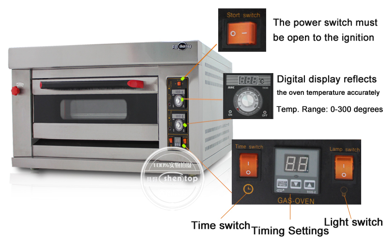 Shentop R12 1 deck 2 trays commercial used gas bread ovens for sale bakery equipment gas bread oven