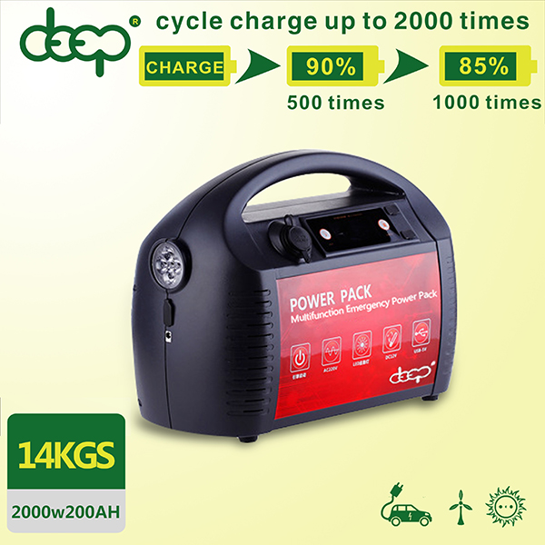 Portable rechargeable 500w 1000w 2000w 3000w ups inbuilt 100ah 200ah lithium battery with battery management system