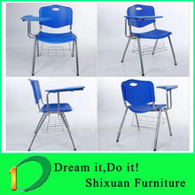 HIgh quality strong plastic school chair with writing board