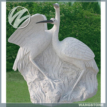 Elegant Life Size Animal Sculpture Crane Statue