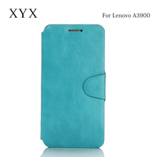 luxxury and elegant packaging mobile phone flip leather case for lenovo a3900