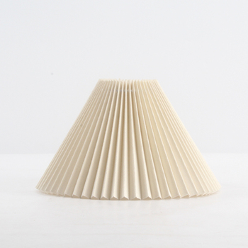Hot selling round PVC+fabric lampshade hardback pleated lamp shade for table and pendant lamps,decoration lamp cover