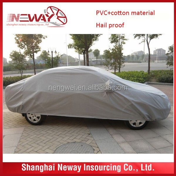 PVC+PP cotton material thick padded snow proof car cover