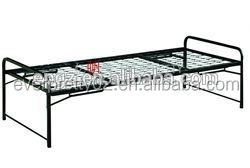 Folding camp bed, metal folding sofa bunk bed, metal hospital bed