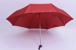 21''*8k fiberglass and aluminum rib 3 Folding umbrella