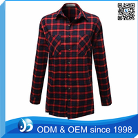 Custom Solid Color Flannel Cotton Shirt for Women