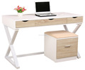 High gloss wooden office furniture desk with Z shaped