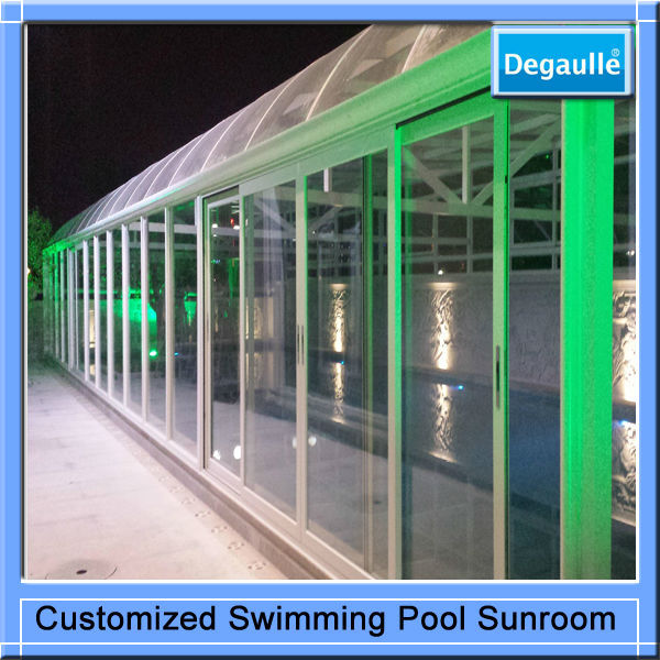 High Quality Aluminium Glass House Made in China/Luxury Aluminium Glass House For Swimming Pool/Aluminium Glass House