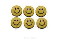 Smiling face plastic office magnets for whiteboard use