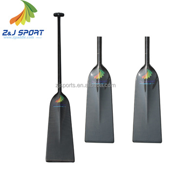 ZJ SPORT Hot Sell One-Piece Carbon Fiber Dragon Boat Paddle For Sale