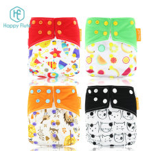 Happy Flute os baby cloth diaper reusable washable bamboo cloth diaper adjusatble pocket diapers hot sale factory OEM Baby Nappy
