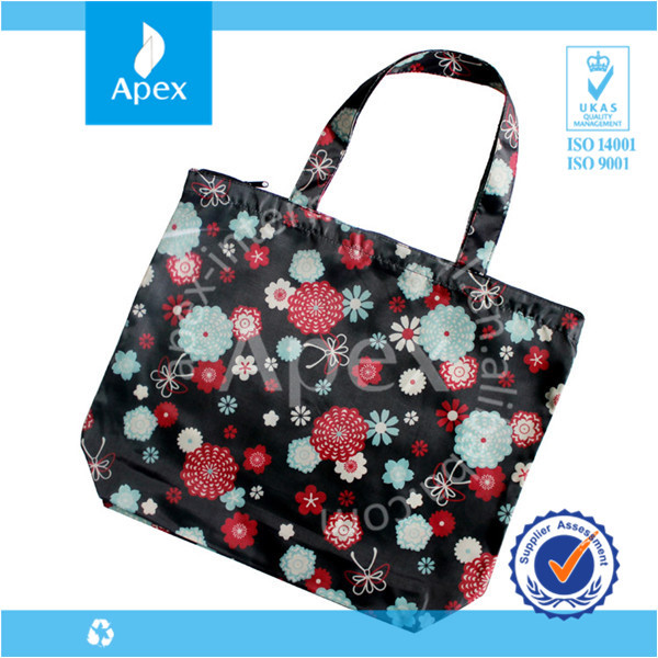 nylon reusable foldable shopping bag nylon