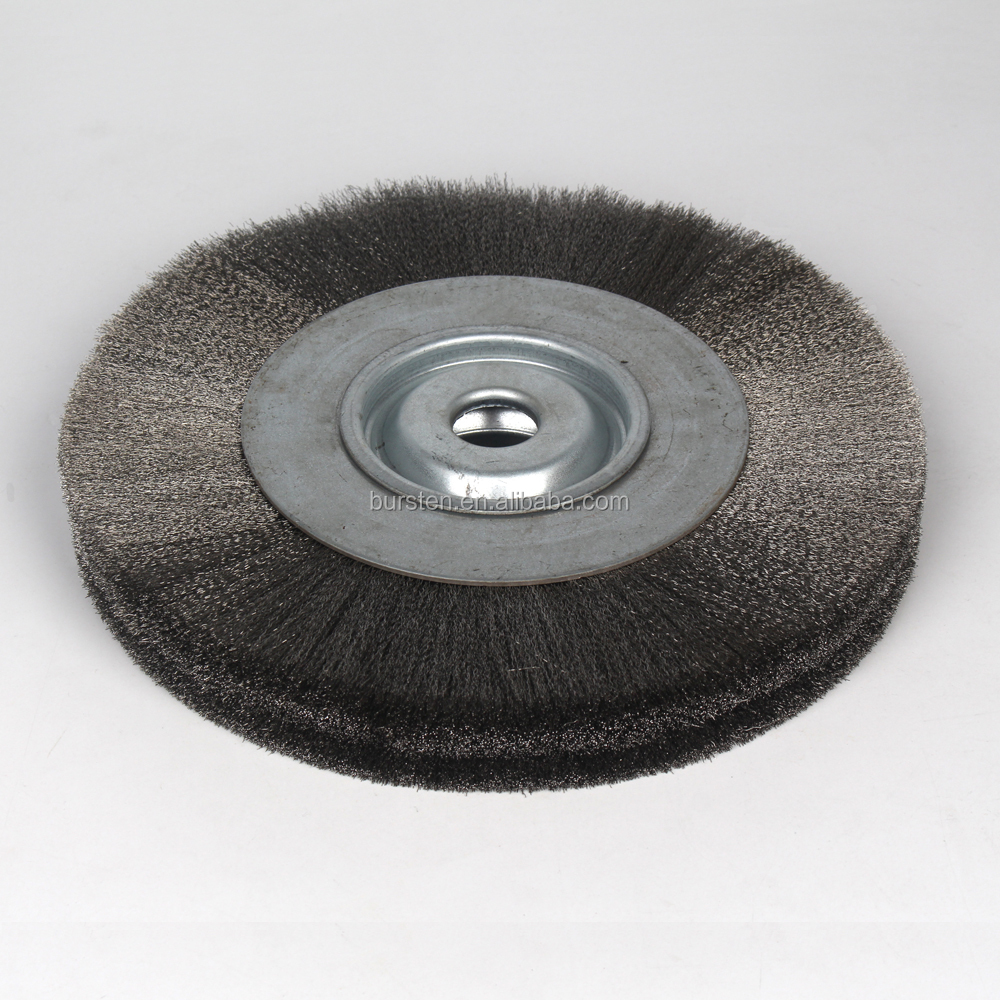 crimped wire stainless steel wheel brush