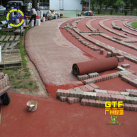 GTF Sport IAAF approved synthetic running track,rubber runway surface