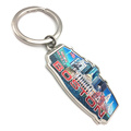 High Quality Keychains Country State Name Custom LOGO Tourist Souvenir Keychains